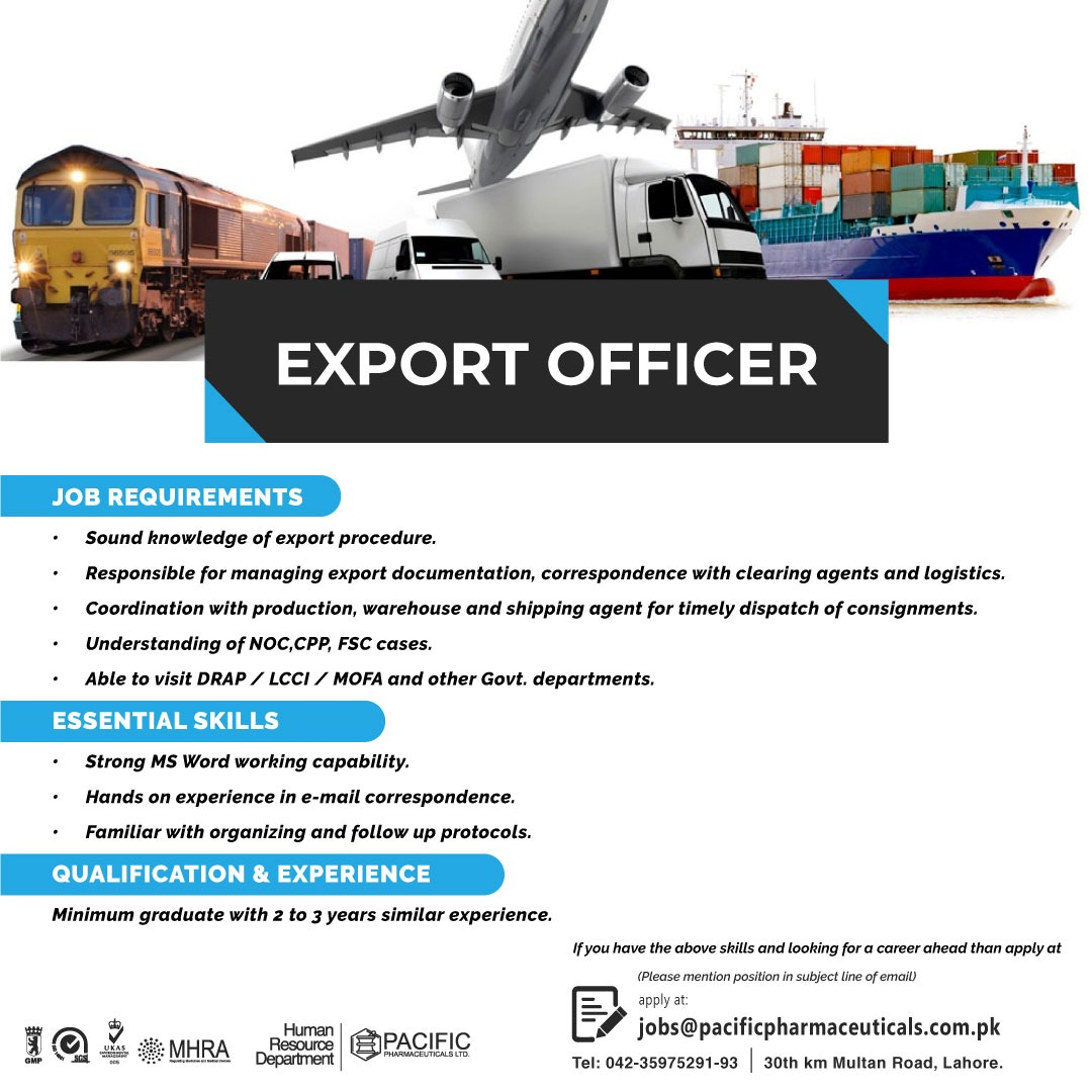 deputy export manager
