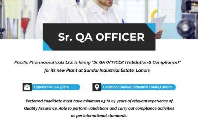 Sr. QA Officer